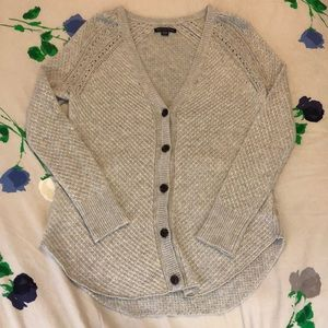 Gray American Eagle button up cardigan
